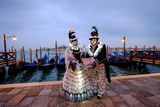 Masks and Costumes at St Mark's Square During Venice Carnival  Venice  Veneto  Italy  Europe