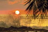 Sun Going Down Behind Surf Spray at This Resort Near Mal Pais  Santa Teresa  Costa Rica