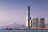 International Commerce Centre (Icc) and Junk Boat  Kowloon  Hong Kong  China  Asia