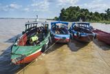Colourful Boats on the Suriname River  Paramaribo  Surinam  South America