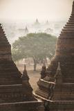 Sunrise at the Temples of Bagan (Pagan)  Myanmar (Burma)  Asia
