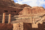Theatre Carved into the Mountainside  with Stage Wall and Columns  Petra  Jordan  Middle East