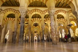 Interior of Mezquita (Great Mosque) and Cathedral  Cordoba  Andalucia  Spain  Europe
