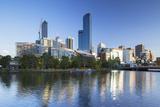 Rialto Towers and Skyline Along Yarra River  Melbourne  Victoria  Australia  Pacific