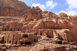 Tombs  Street of Facades  Petra  UNESCO World Heritage Site  Jordan  Middle East