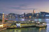View of Star Ferry Terminal and Hong Kong Island Skyline  Hong Kong  China  Asia