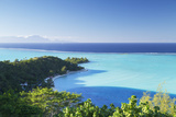 View of Matira Beach and Lagoon  Bora Bora  Society Islands  French Polynesia  Pacific
