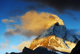 Sunrise on the Matterhorn  4478M  Zermatt  Valais  Swiss Alps  Switzerland  Europe