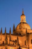 The Imposing Gothic Cathedral of Segovia at Night  Segovia  Castilla Y Leon  Spain  Europe