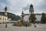 Residence Square in the Historic Heart of Salzburg  Austria  Europe