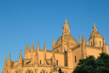 The Imposing Gothic Cathedral of Segovia  Castilla Y Leon  Spain  Europe