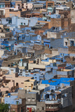 The Traditional Blue-Washed Houses of Jodhpur  Rajasthan  India  Asia