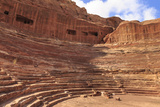 Theatre Carved into the Mountainside  Petra  UNESCO World Heritage Site  Jordan  Middle East