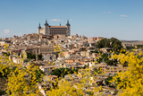 The Alcazar Towering Above the Rooftops of Toledo  Castilla La Mancha  Spain  Europe