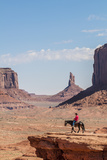 Navajo Man on Horseback  Monument Valley Navajo Tribal Park  Monument Valley  Utah  USA