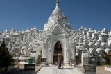 Woman Outside Hsinbyume (Or Myatheindan) Pagoda  Mingun  Myanmar (Burma)