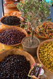 Fresh Olives for Sale at a Street Market in the Historic Provence Town of Eygalieres  France