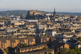 View from Holyrood Park over City Rooftops to Edinburgh Castle  City of Edinburgh  Scotland