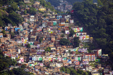 View of the Santa Marta Favela (Slum Community) Showing the Funicular Railway  Brazil
