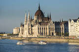 The Hungarian Parliament on the Banks of the River Danube  Budapest  Hungary  Europe