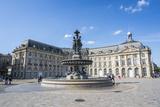 Fountain on the Place De La Bourse  Bordeaux  Aquitaine  France  Europe