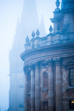 Radcliffe Camera and St Mary's Church in the Mist  Oxford  Oxfordshire  England  United Kingdom