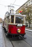 Old Fashioned Tram  Prague  Czech Republic  Europe