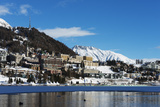 Lakeside  St Moritz in Winter  Engadine  Graubunden  Switzerland  Europe