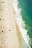 Aerial of Ipanema Beach  Rio De Janeiro  Brazil  South America