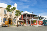 Colonial Houses in the UNESCO World Heritage Site  the Historic Town of St George  Bermuda