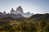 Mount Fitz Roy (Cerro Chalten) Sunset  El Chalten  Patagonia  Argentina  South America