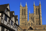 Half-Timbered Leigh-Pemberton House and Lincoln Cathedral  England