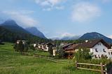 Alpine Village  Scuol Tarasp  Engadine  Graubunden  Switzerland  Europe