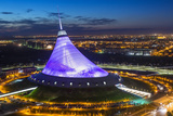 Night View over Khan Shatyr Entertainment Center  Astana  Kazakhstan  Central Asia