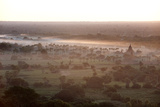 Mists from the Nearby Irrawaddy River Floating across Bagan (Pagan)  Myanmar (Burma)