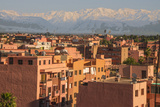 Marrakech Panorama  with Atlas Mountains in the Backgroud  Marrakesh  Morocco  North Africa  Africa