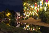 Loi Kratong Festival of Lights  Wat Phan Tao Temple  Chiang Mai  Thailand  Southeast Asia  Asia