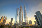 Skyscrapers of Lujiazui  Jin Mao Tower and Shanghai Tower  China