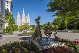 Joyful Moment Statue  Temple Square  Salt Lake City  Utah  United States of America  North America