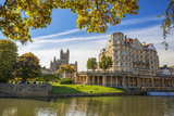 Bath Abbey  Bath  UNESCO World Heritage Site  Avon  Somerset  England  United Kingdom  Europe