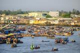 Cai Rang Floating Market  Cai Rang District  Can Tho  Mekong Delta  Vietnam  Indochina