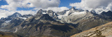 Mountains  Zinalrothorn 4221M  around Gornergrat  Zermatt  Swiss Alps  Switzerland  Europe