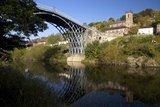 Worlds First Iron Bridge Spans the Banks of the River Severn  Shropshire  England