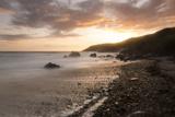 Dusk  Pembrokeshire Coast National Park  Wales  United Kingdom  Europe