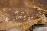 Ute Rock Art Petroglyphs  Arches National Park  Utah  United States of America  North America