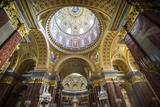 Beautiful Interior of the St Stephen's Basilica  Budapest  Hungary  Europe