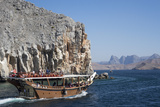 Dhow in Musandam Fjords  Oman  Middle East