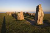 Boat Shaped Standing Stones of Ales Stenar  Kaseberga  Skane  South Sweden  Sweden  Scandinavia