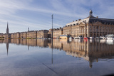 The Miroir D'Eau (Water Mirror) in the City of Bordeaux  Gironde  Aquitaine  France  Europe