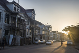 Colonial Wooden Buildings at Sunrise  Paramaribo  Surinam  South America